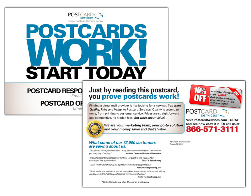 "Postcard Services ""Postcards Work!"" Campaign"
